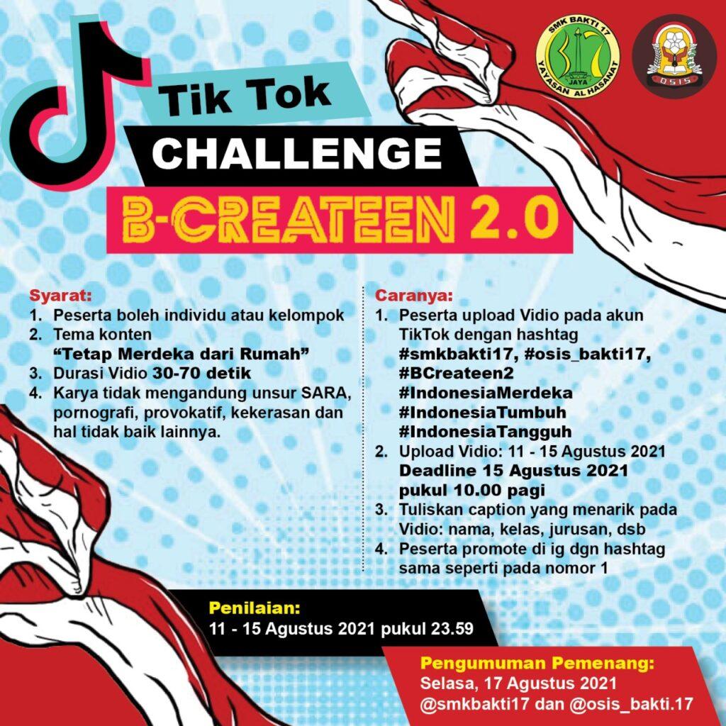 Tiktok Challenge B-Createen 2.0